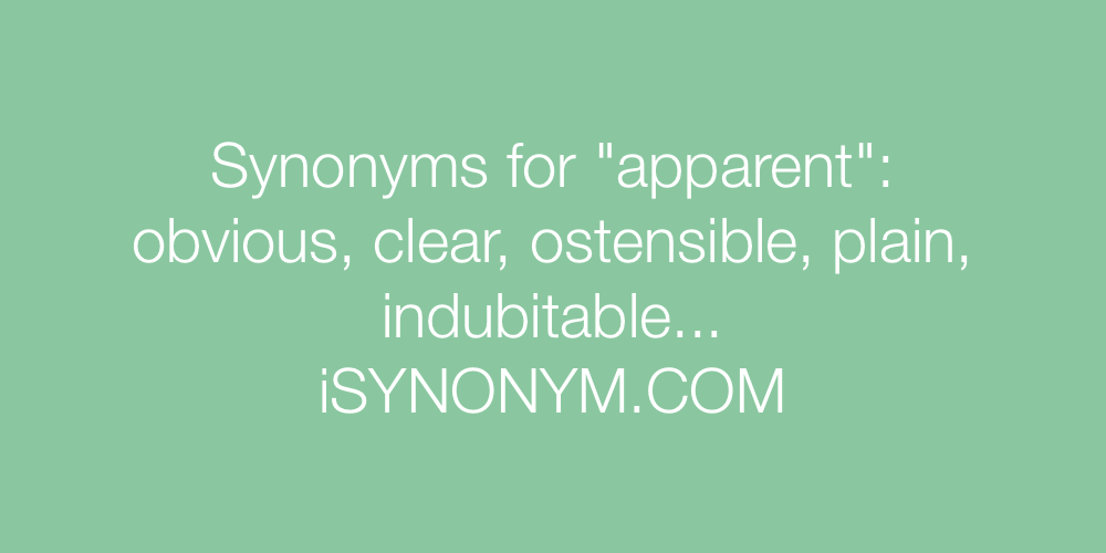 Synonyms apparent