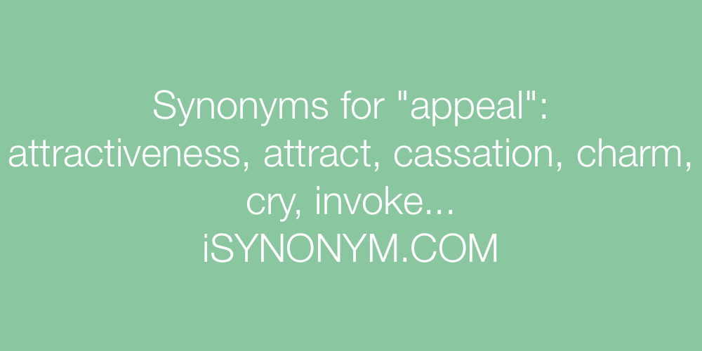 Synonyms appeal