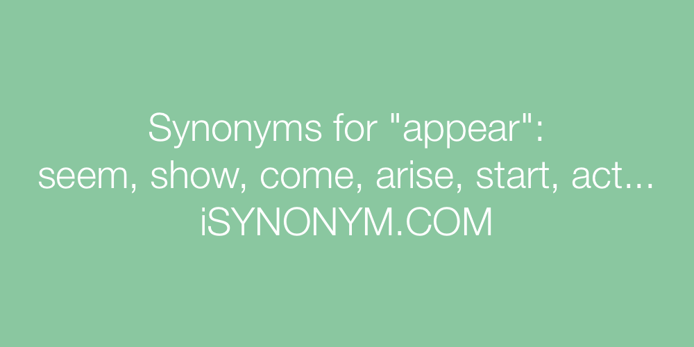 Synonyms appear