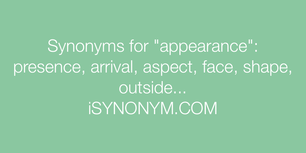 Synonyms appearance
