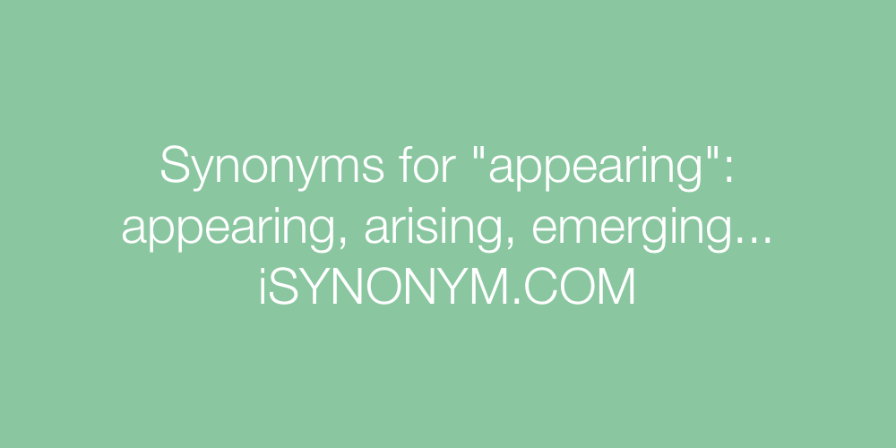 Synonyms appearing