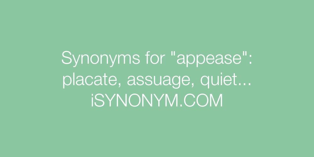 Synonyms appease