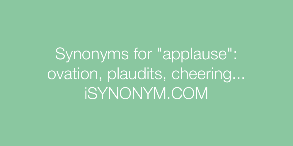 Synonyms applause