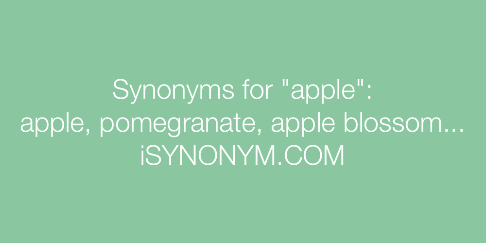Synonyms apple