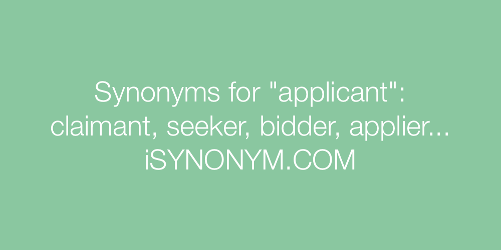 Synonyms applicant