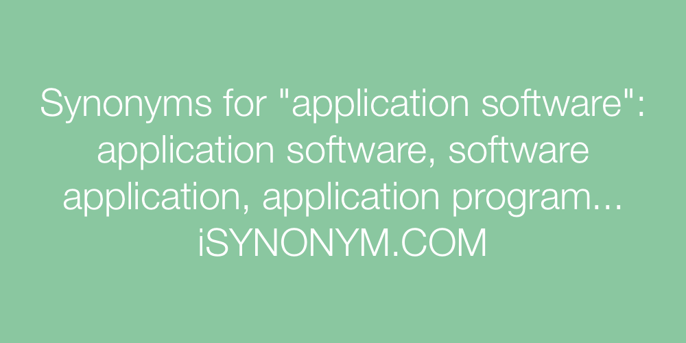 Synonyms application software