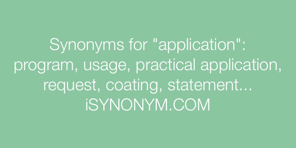 Synonyms application