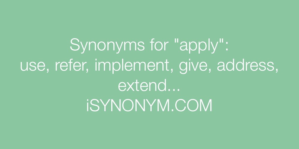 Synonyms apply