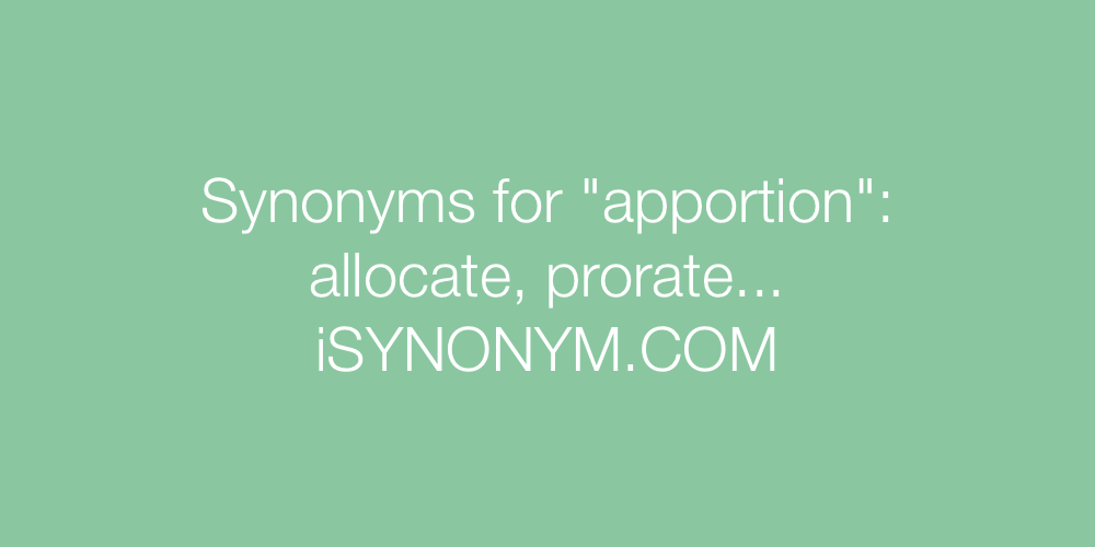 Synonyms apportion