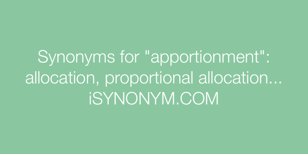 Synonyms apportionment