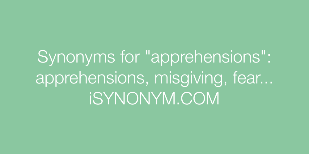 Synonyms apprehensions