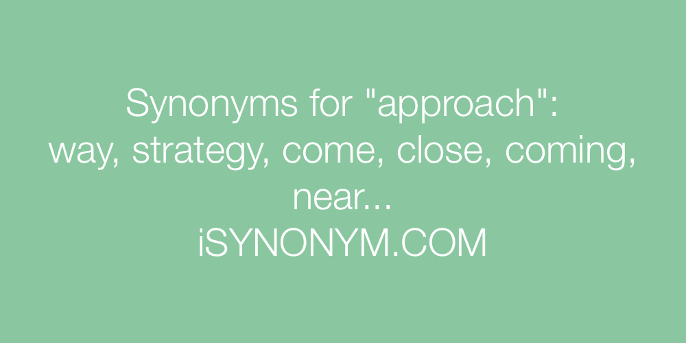 Synonyms approach