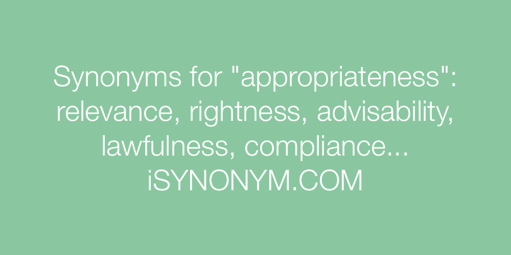 Synonyms appropriateness