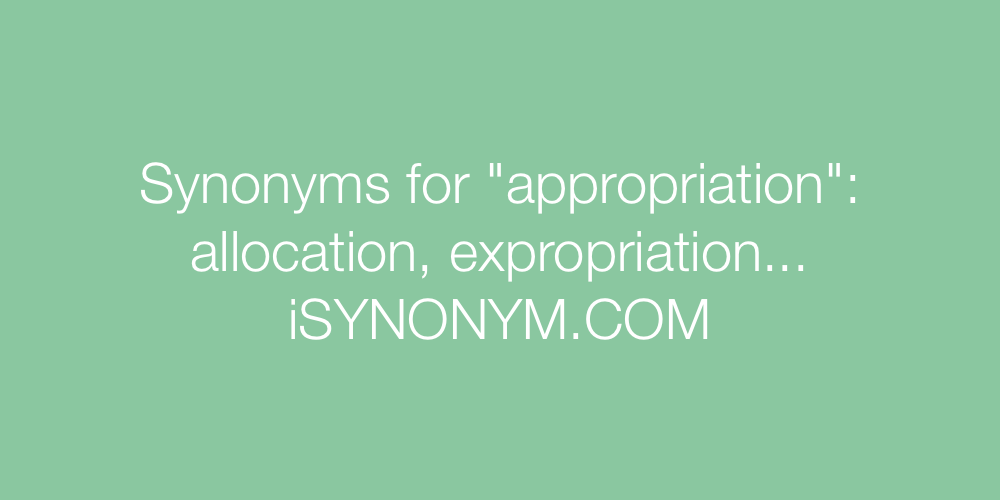 Synonyms appropriation