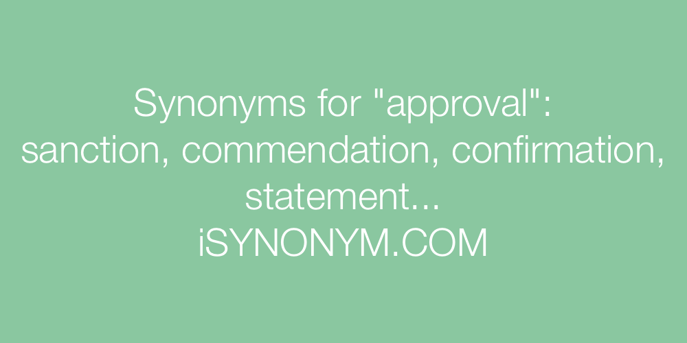 Synonyms approval