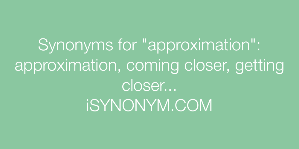 Synonyms approximation