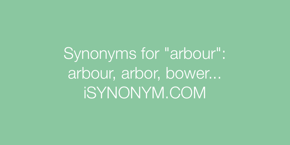 Synonyms arbour