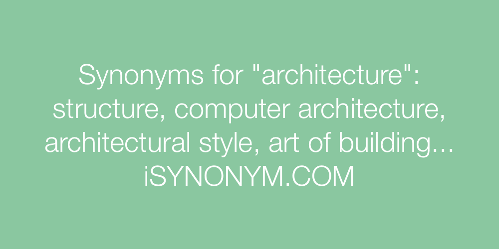 Synonyms architecture