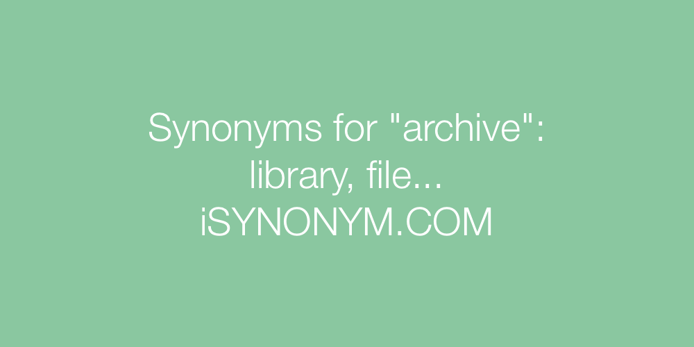 Synonyms archive