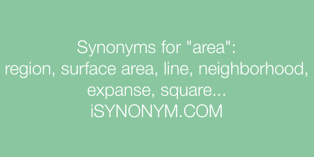 Synonyms area