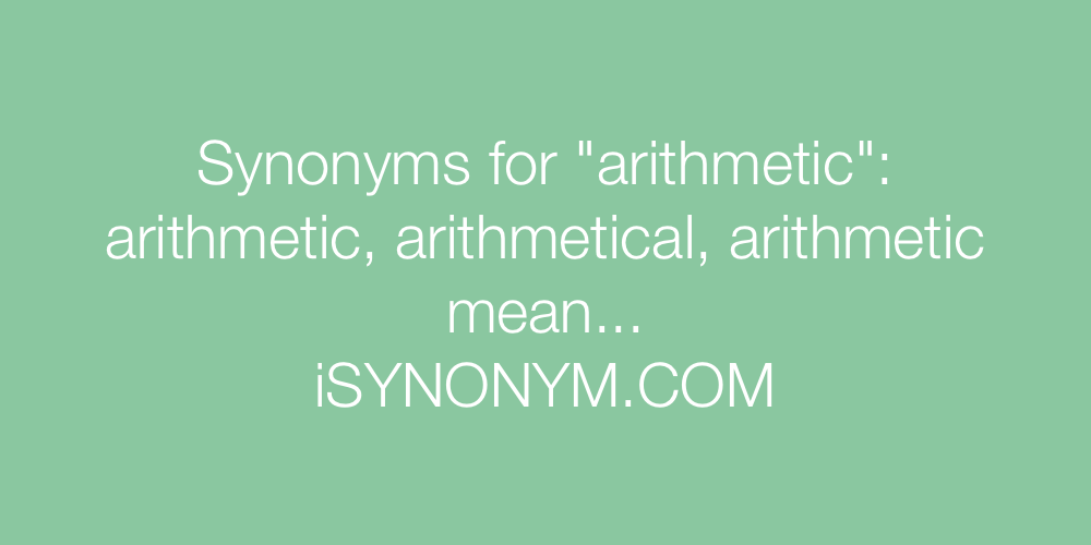 Synonyms arithmetic