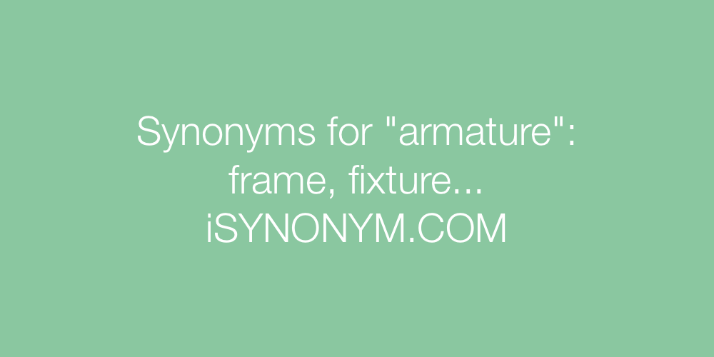 Synonyms armature