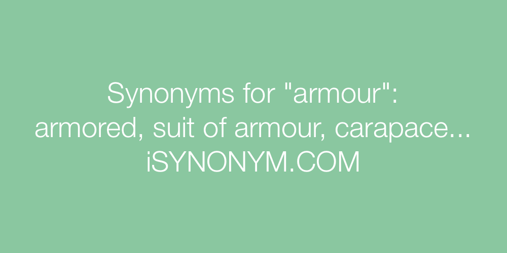Synonyms armour