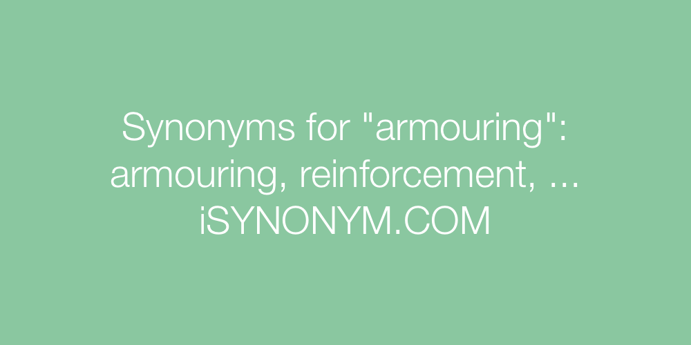 Synonyms armouring