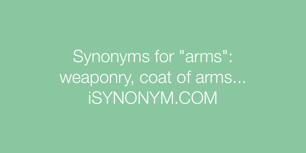 Synonyms arms