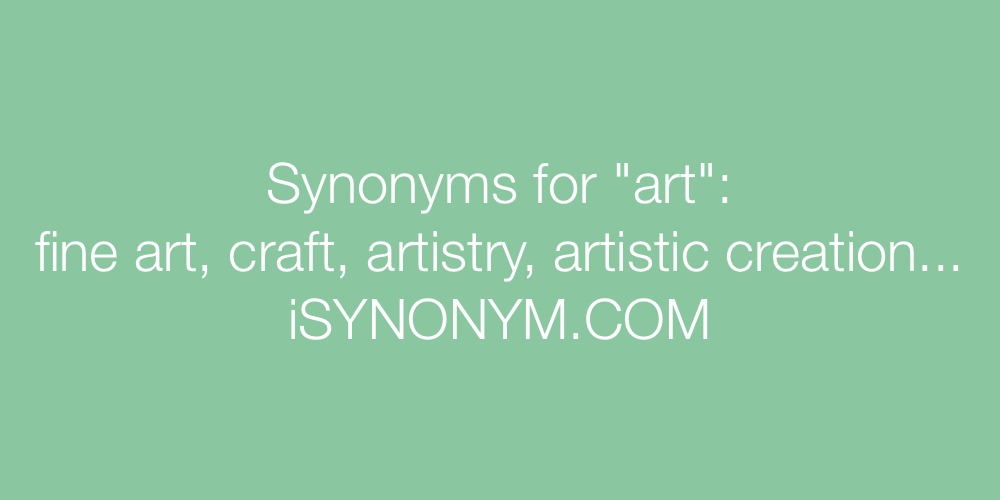 Synonyms art