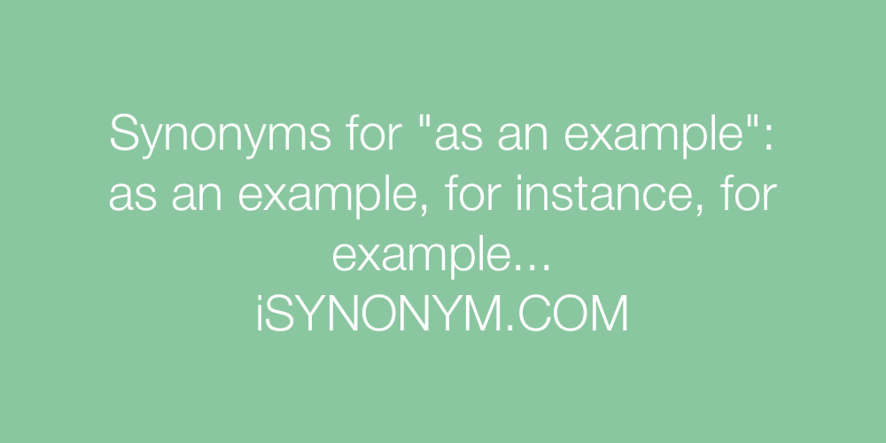 Synonyms as an example