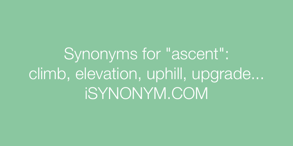 Synonyms ascent