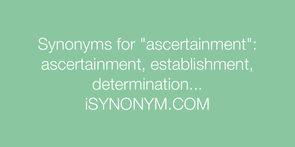 Synonyms ascertainment