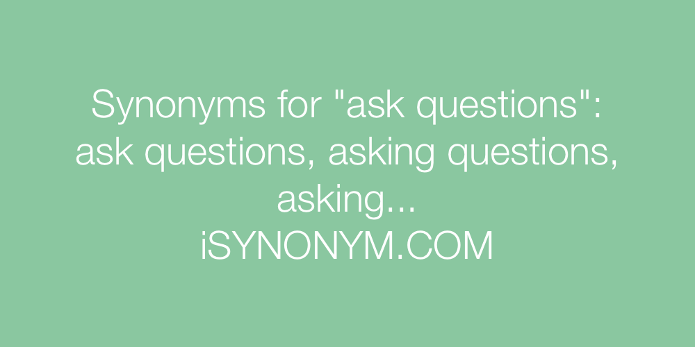 Synonyms ask questions