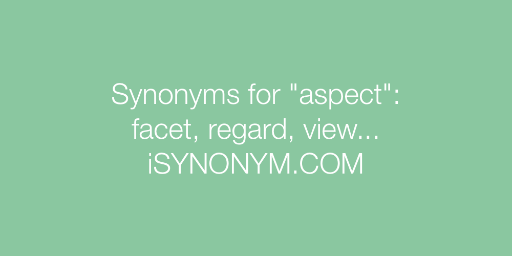 Synonyms aspect