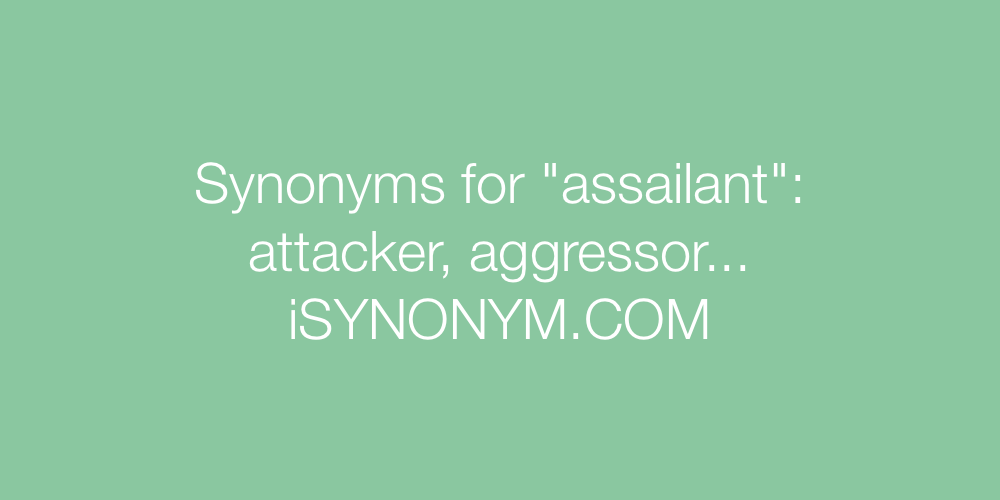 Synonyms assailant