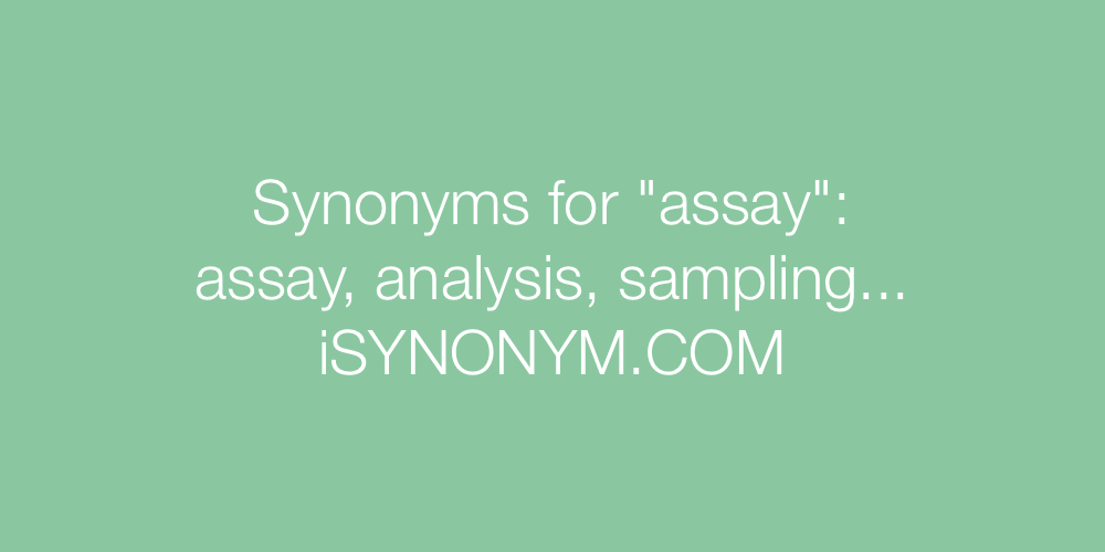 Synonyms assay