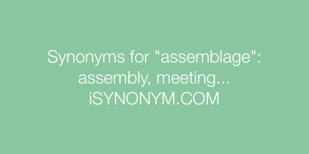 Synonyms assemblage
