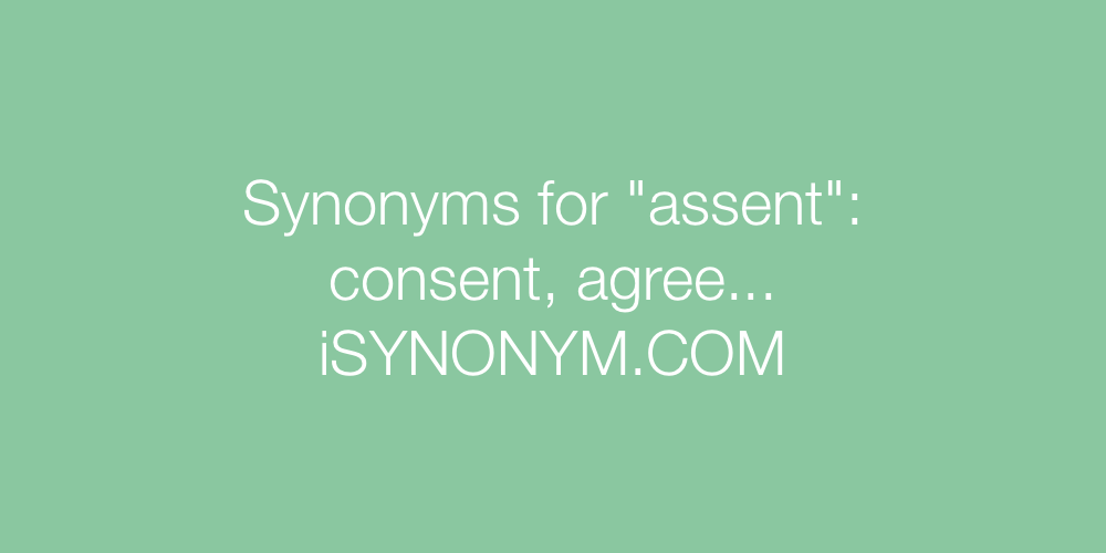 Synonyms assent