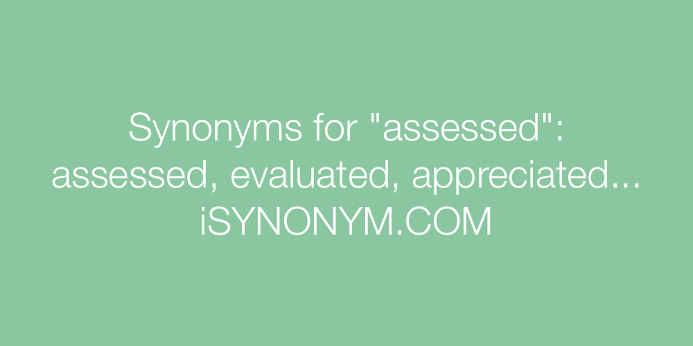 Synonyms assessed