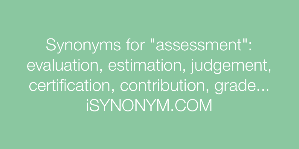 Synonyms assessment