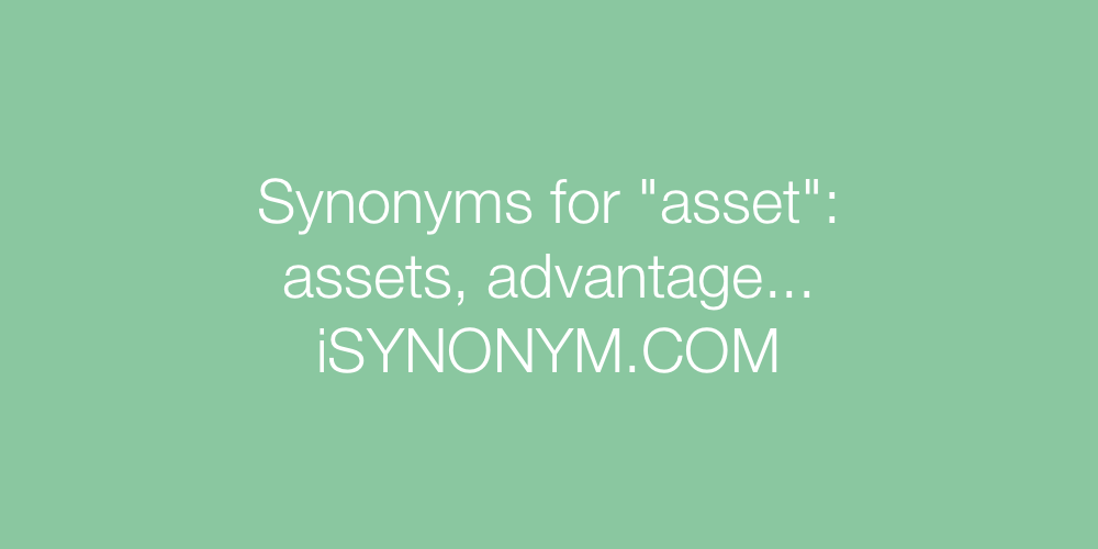 Synonyms asset