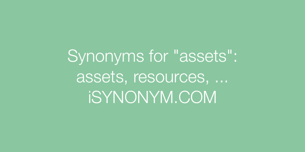 Synonyms assets