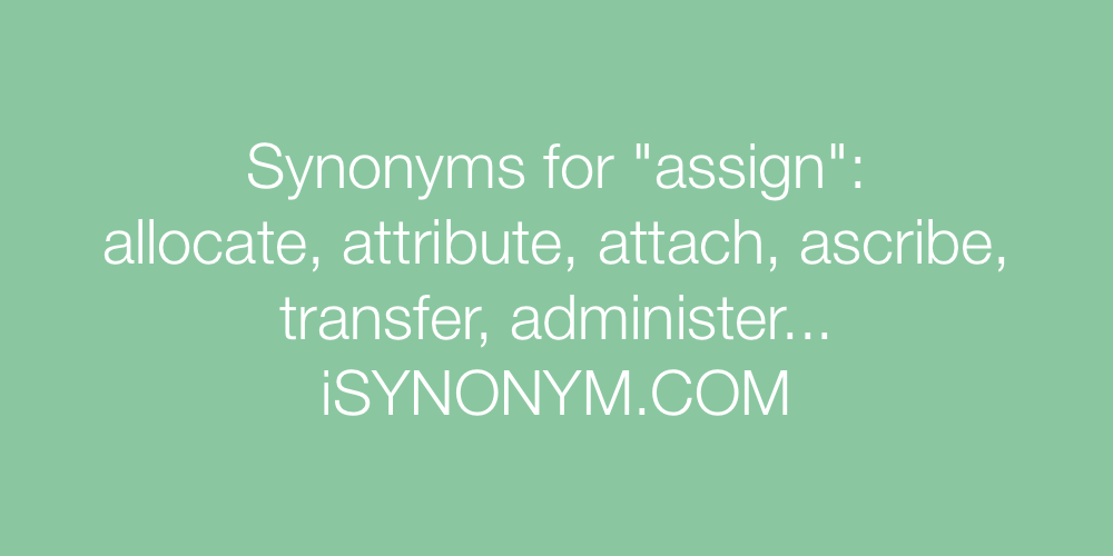 Synonyms assign
