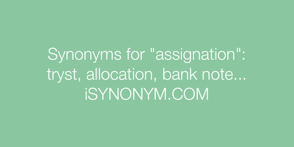 Synonyms assignation