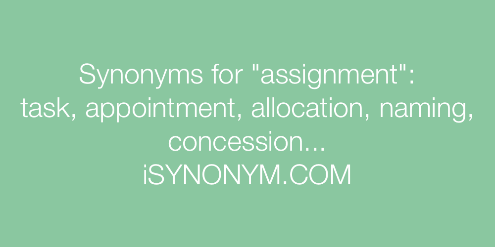 Synonyms assignment