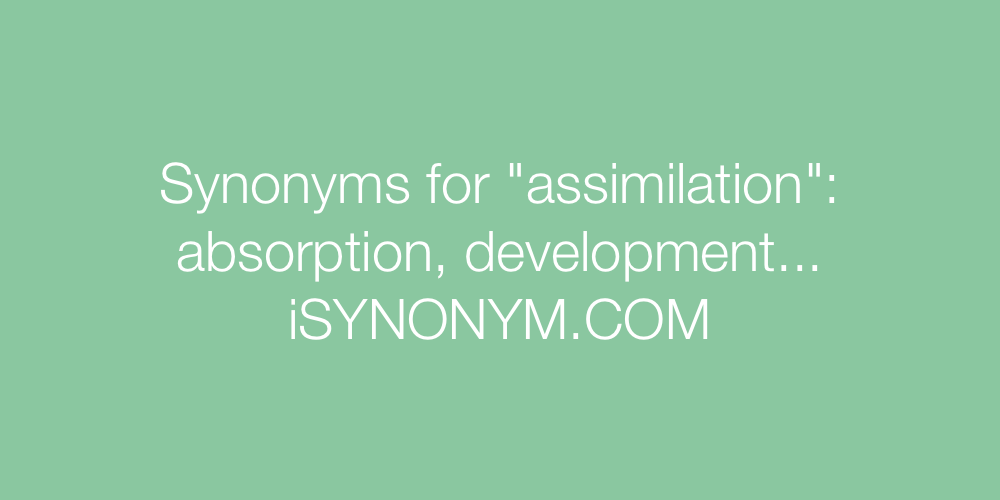 Synonyms assimilation
