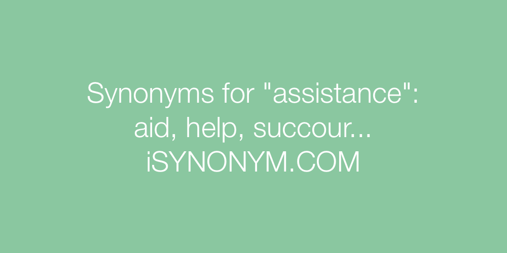 Synonyms assistance