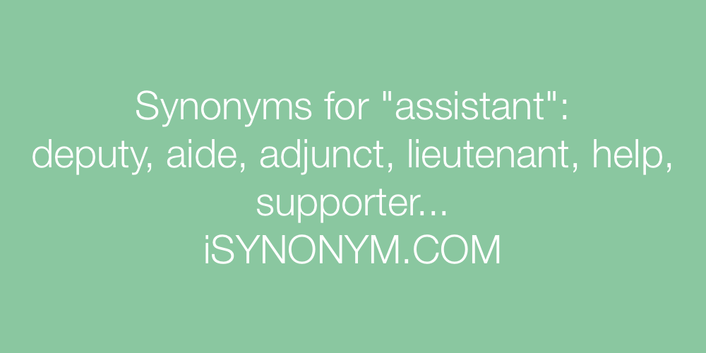 Synonyms assistant
