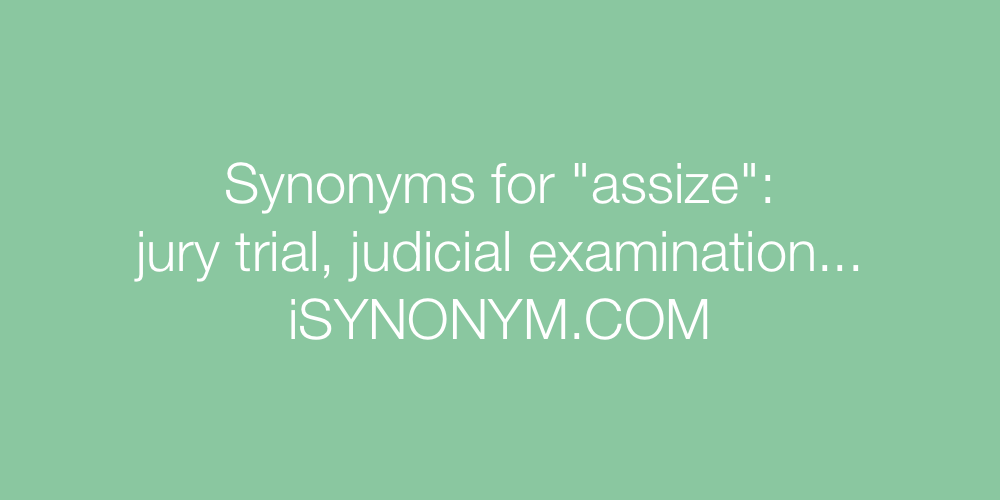 Synonyms assize
